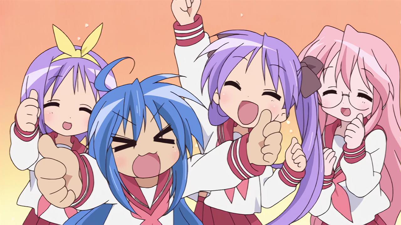 Znalezione obrazy dla zapytania Lucky Star anime