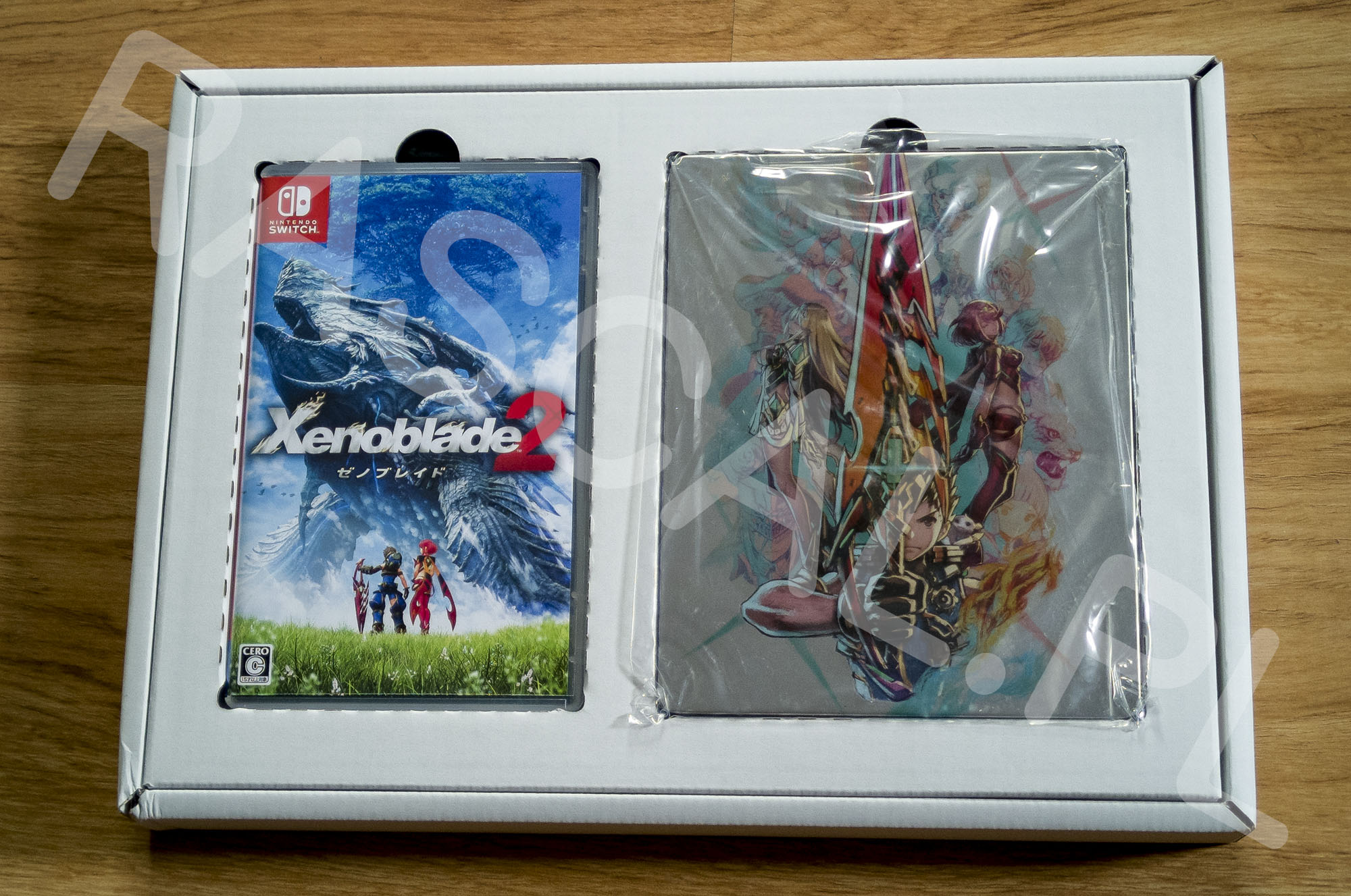 Xenoblade Chronicles 2 Collectors Edition Środek Pudełka