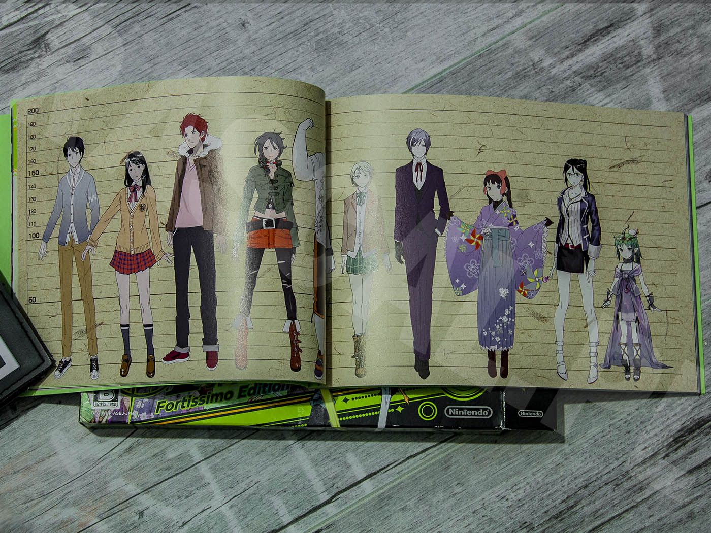 Tokyo Mirage Sessions #FE Fortissimo Edition 2015 - Artbook - Bohaterowie - Wzrost