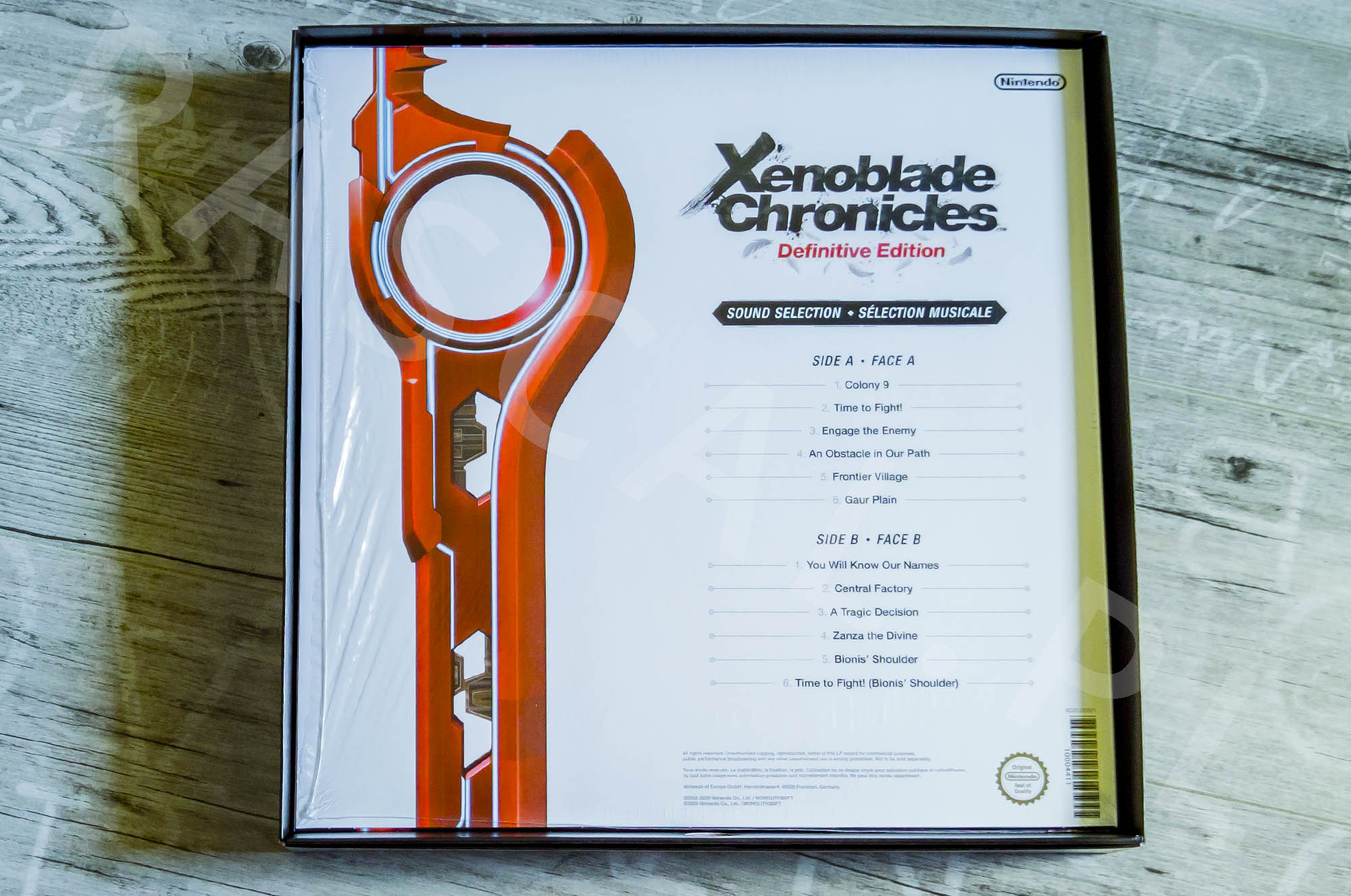 Xenoblade Chronicles Definitive Edition Collectors Set - Vinyl - Tył Opakowania