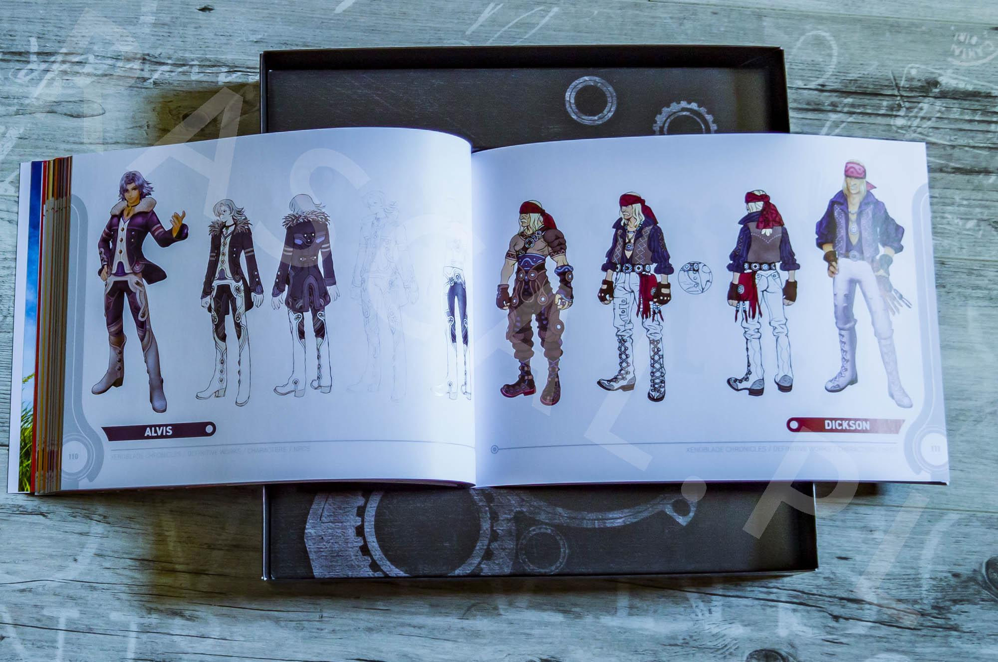 Xenoblade Chronicles Definitive Edition Collectors Set - Artbook - 11 - Alvis / Dickson