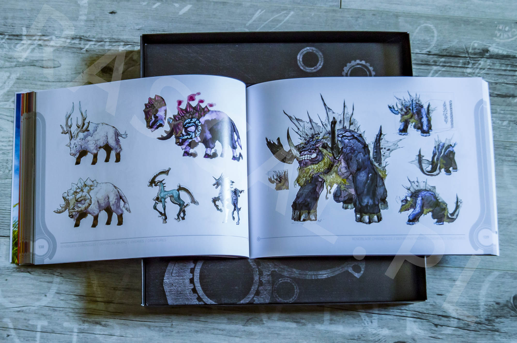 Xenoblade Chronicles Definitive Edition Collectors Set - Artbook - 16 - Wrogowie