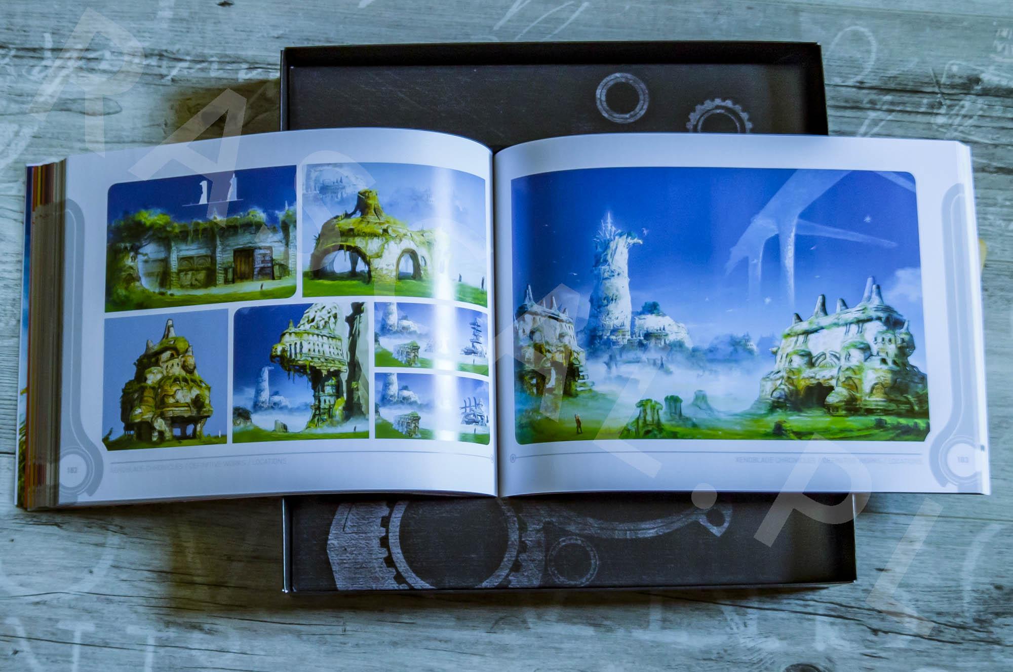 Xenoblade Chronicles Definitive Edition Collectors Set - Artbook - 22 - Lokacje