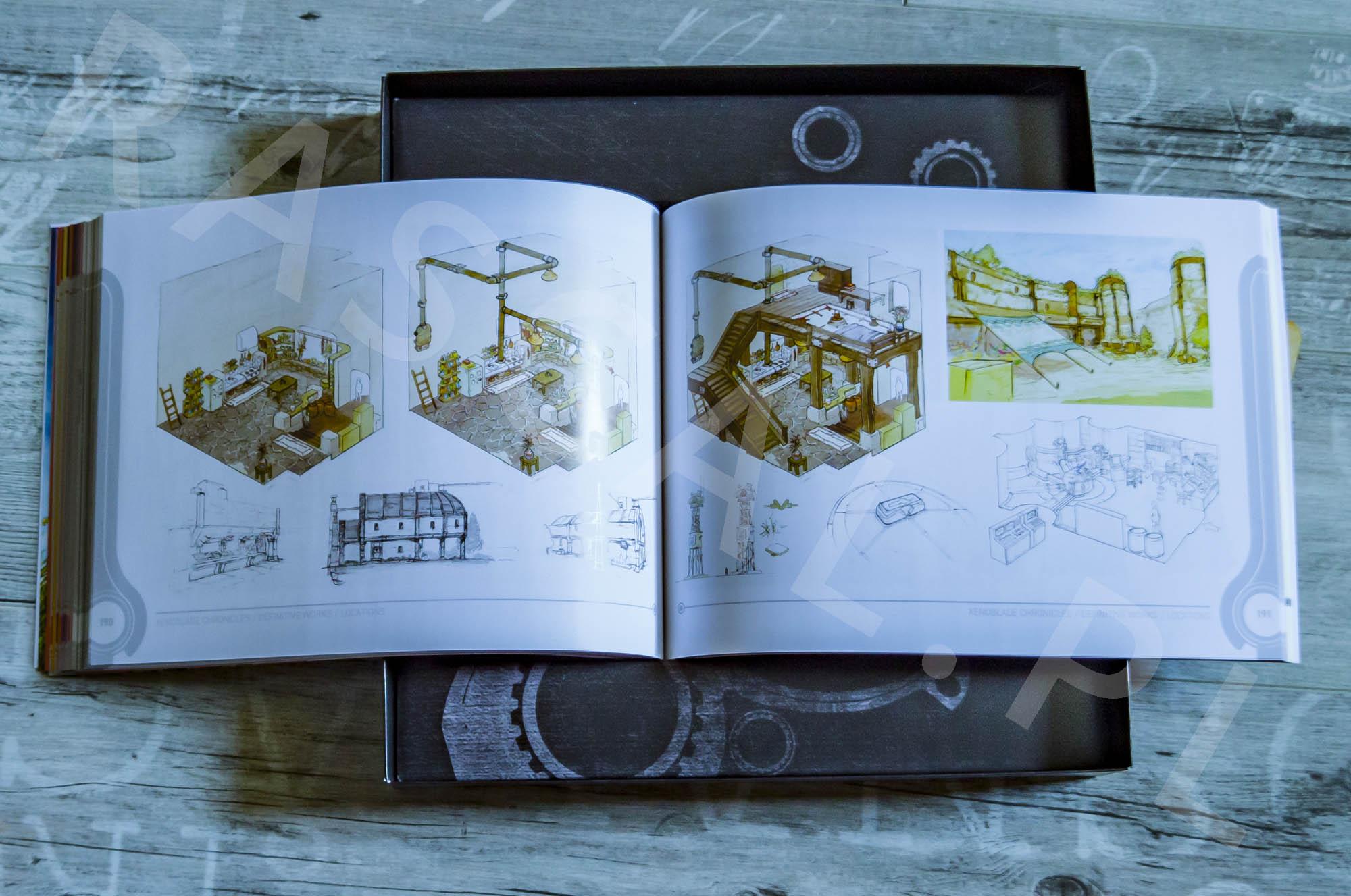 Xenoblade Chronicles Definitive Edition Collectors Set - Artbook - 23 - Lokacje
