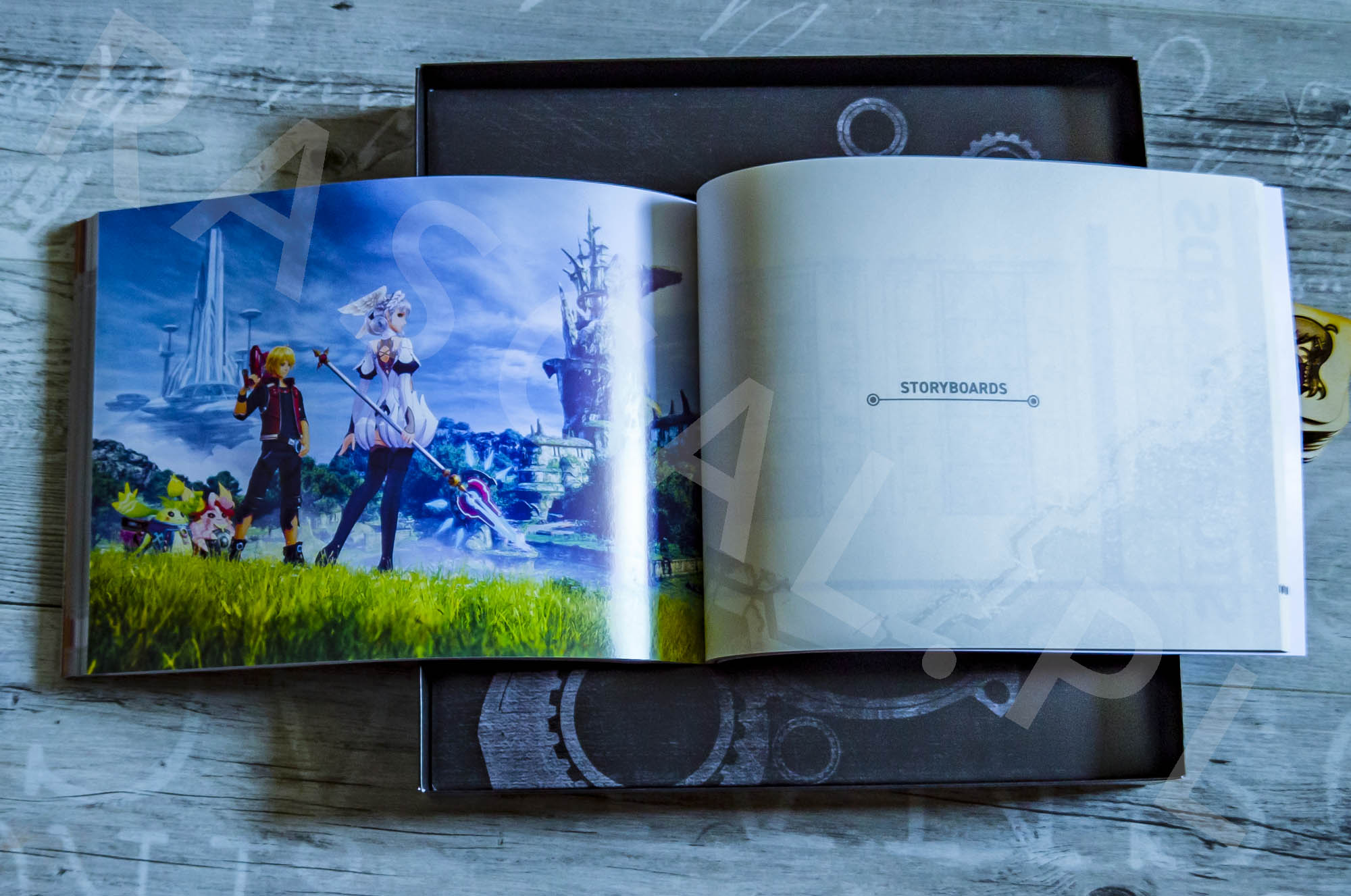 Xenoblade Chronicles Definitive Edition Collectors Set - Artbook - 28 - Storyboard
